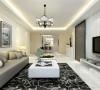 本客厅设计采用简约明朗的线条,将空间进行了合理的分隔。
