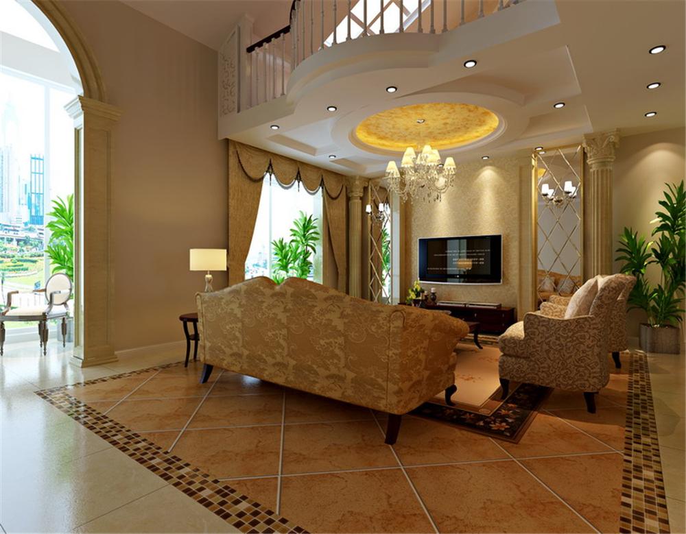 三居 别墅 白领 收纳 80后 小资 客厅图片来自实创装饰完美家装在金色漫香林236平简欧风格案例的分享