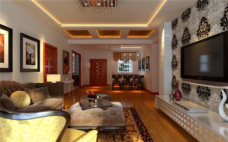 客厅图片来自百家装饰-小李在荣盛爱家丽都135平现代风格的分享