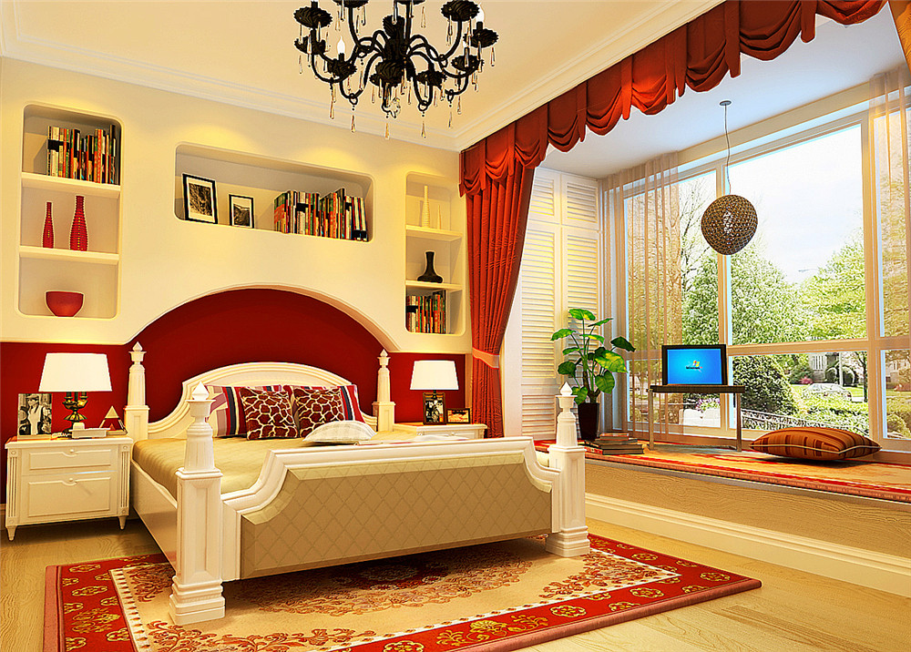 卧室图片来自fy1160721905在中弘北京像素75平美式风格的分享