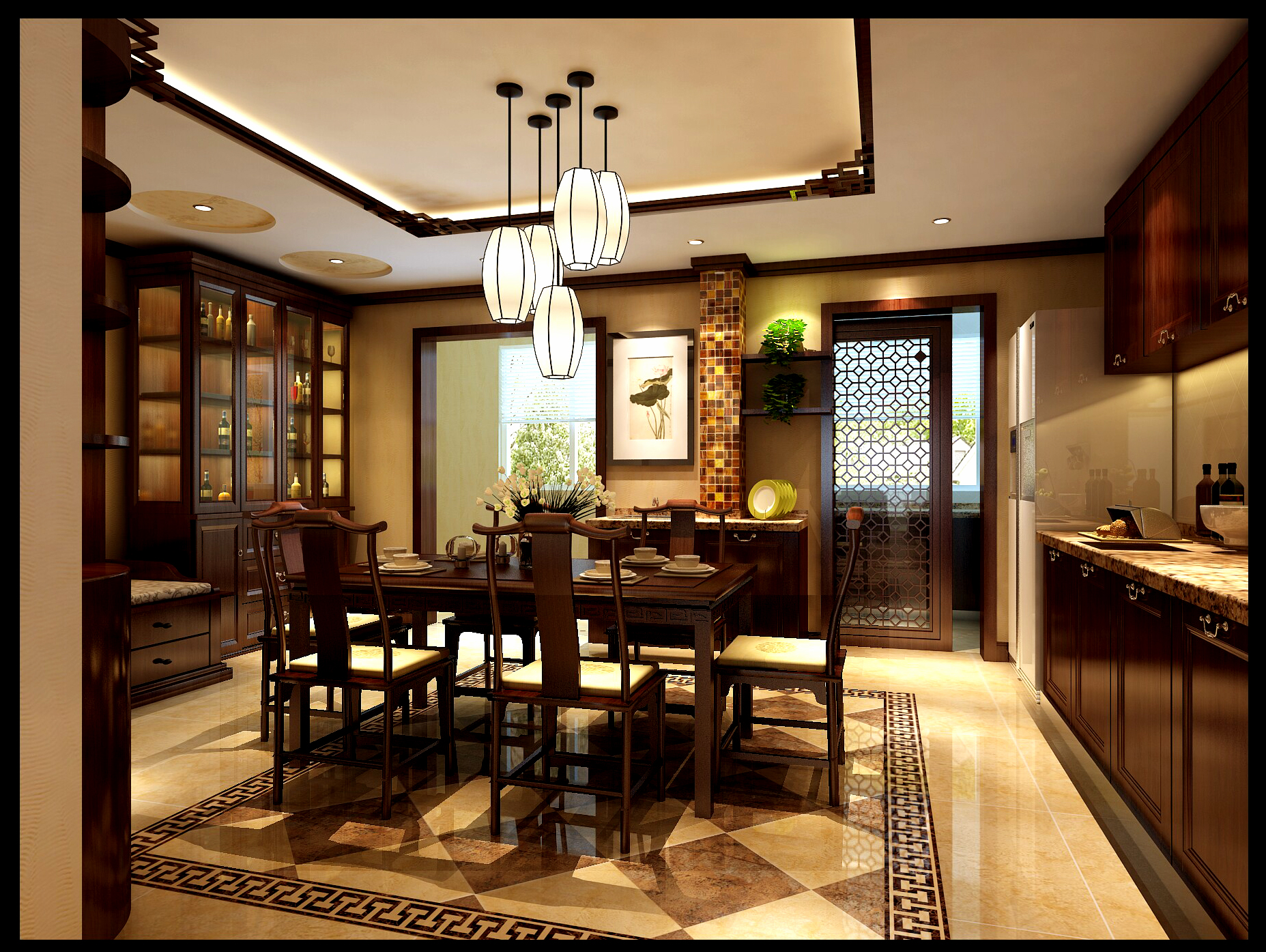 餐厅图片来自元洲装饰-江薇在武颐家园的分享