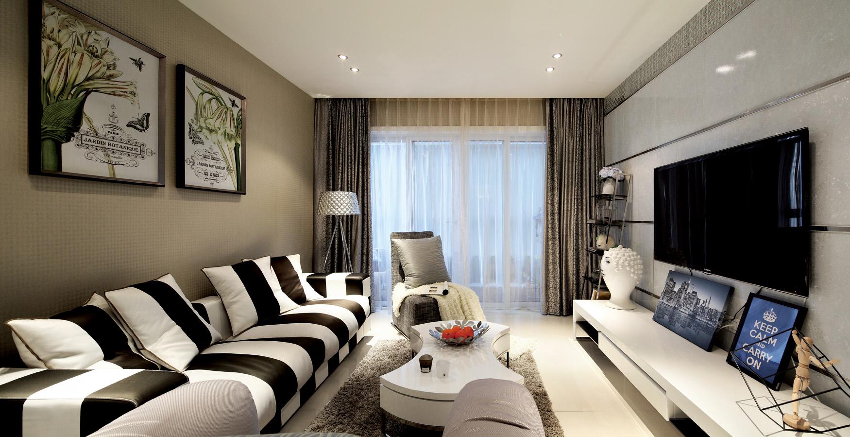 客厅图片来自成都家和装饰在美式现代的简约时尚的分享