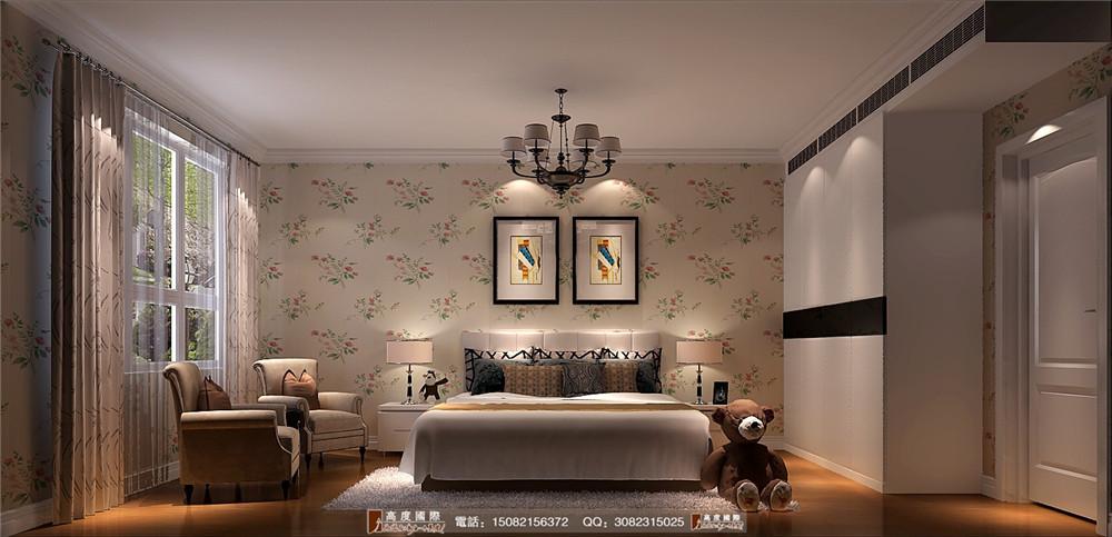 高度国际 成都装修 高端别墅 别墅装修 卧室图片来自成都高端别墅装修瑞瑞在新中式风格.高度国际装饰的分享
