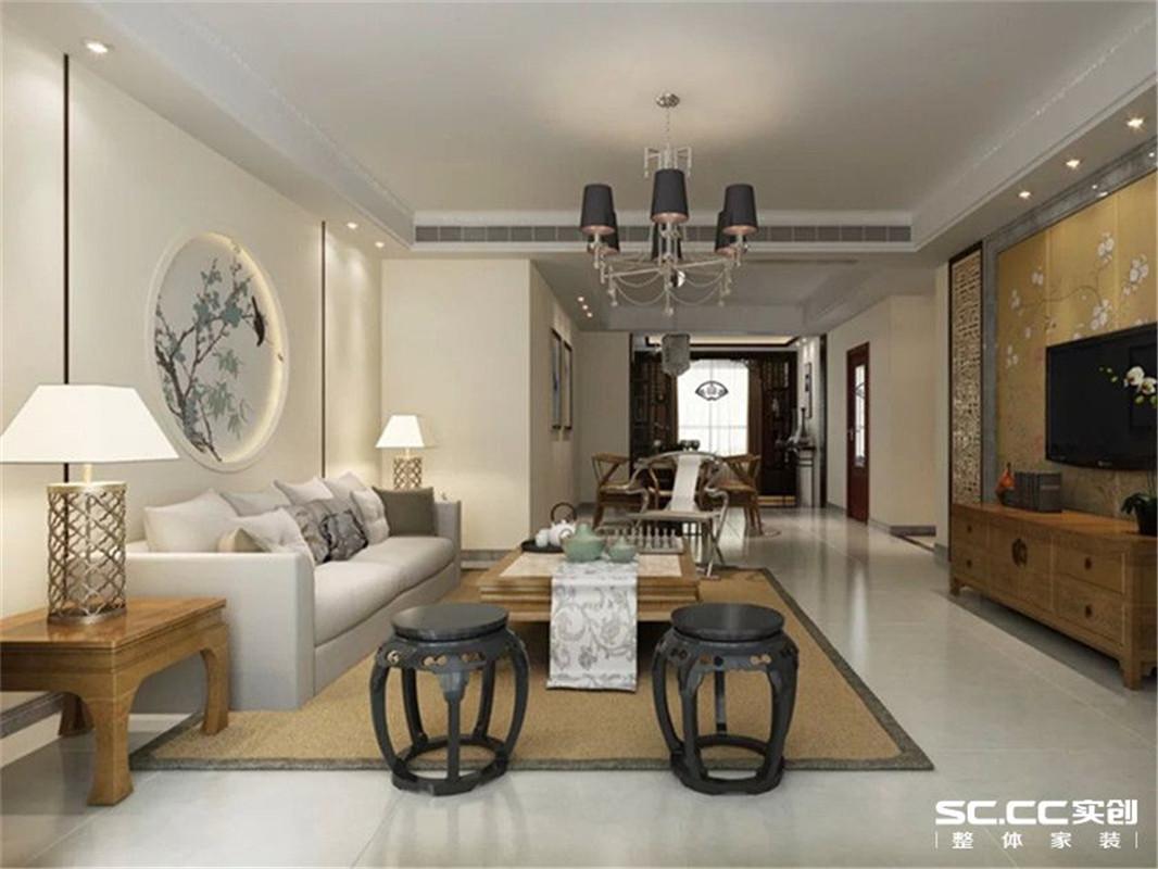 豫武花园 新中式 三居 客厅图片来自郑州实创装饰啊静在豫武花园简洁新中式三居的分享