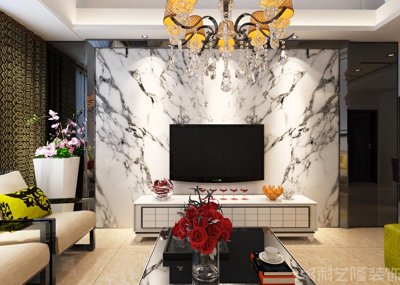 客厅图片来自天津科艺隆装饰在龙湾城龙盛园-现代简约-135㎡的分享