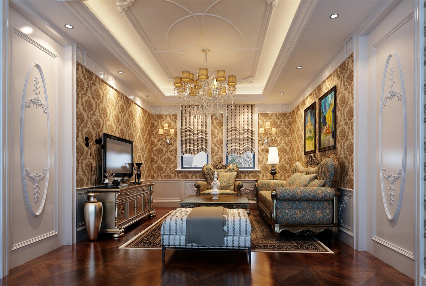 保利叶城 别墅装修 别墅设计 欧式风格 腾龙设计 卧室图片来自腾龙设计在保利叶城239号别墅装修设计案例的分享