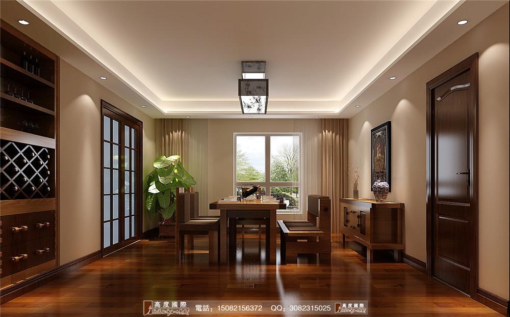 高度国际 成都装修 高端别墅 别墅装修 餐厅图片来自成都高端别墅装修瑞瑞在新中式风格.高度国际装饰的分享