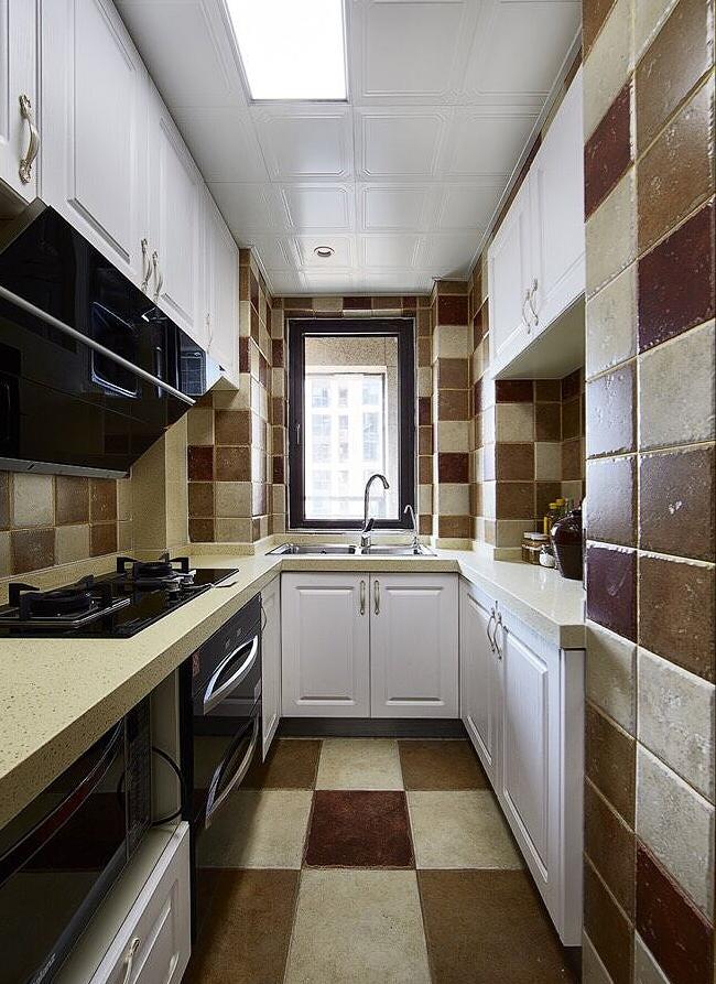 厨房图片来自家装大管家在89平简约纯粹美式 独有一丝幽静的分享