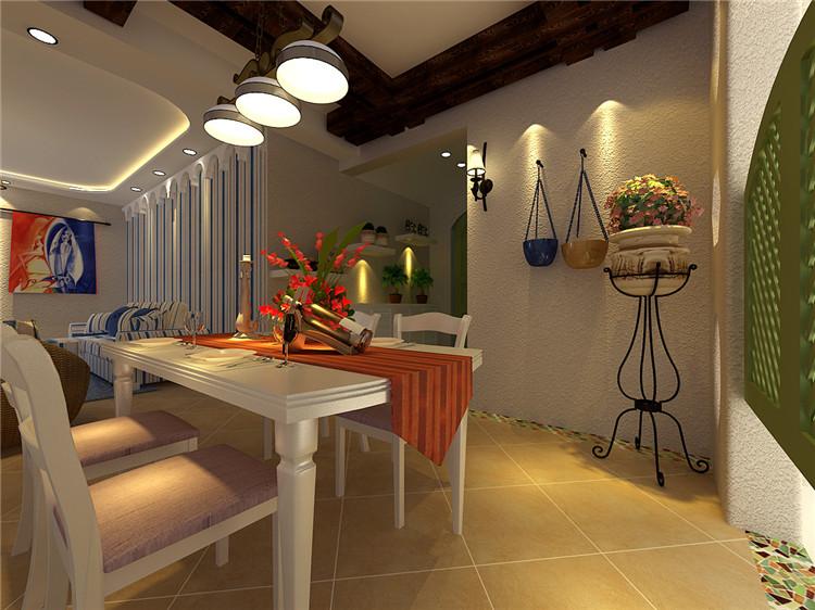 餐厅图片来自百家装饰-小李在克莱斯特160平地中海风格的分享