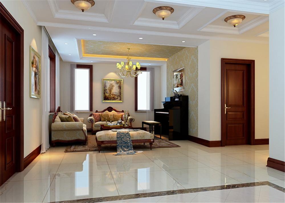 别墅 白领 收纳 80后 小资 客厅图片来自实创装饰完美家装在北京院子210平简欧风格案例赏析的分享