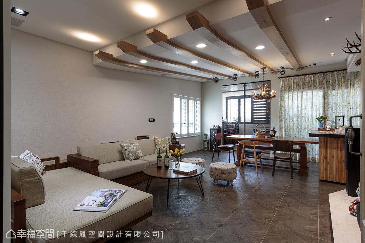 简约 三居 乡村 小资 旧房改造 客厅图片来自幸福空间在150平~老屋变身乡村风味宅的分享