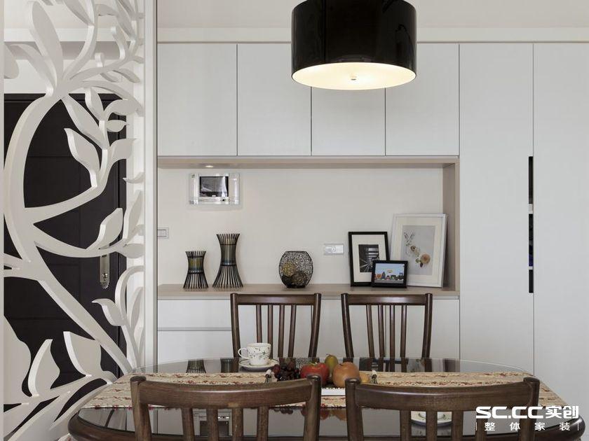 三居 140平 美式 清新 白色 客厅 卧室 餐厅 飘窗 餐厅图片来自实创装饰晶晶在140平美式三居小清新格调的分享