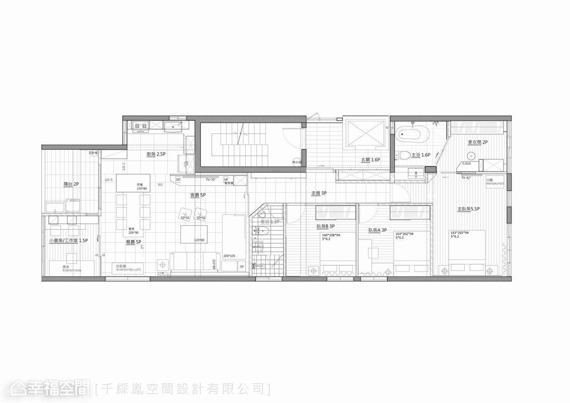 简约 三居 乡村 小资 旧房改造 户型图图片来自幸福空间在150平~老屋变身乡村风味宅的分享
