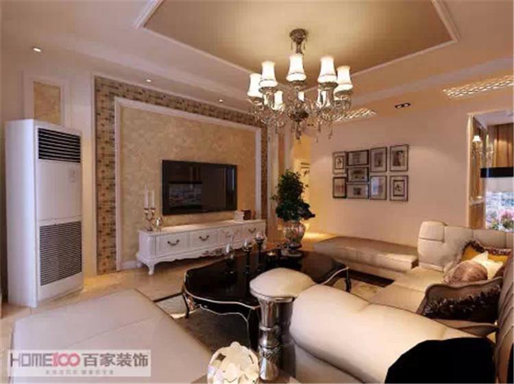 客厅图片来自百家装饰-小李在中海国际125平欧式风格的分享
