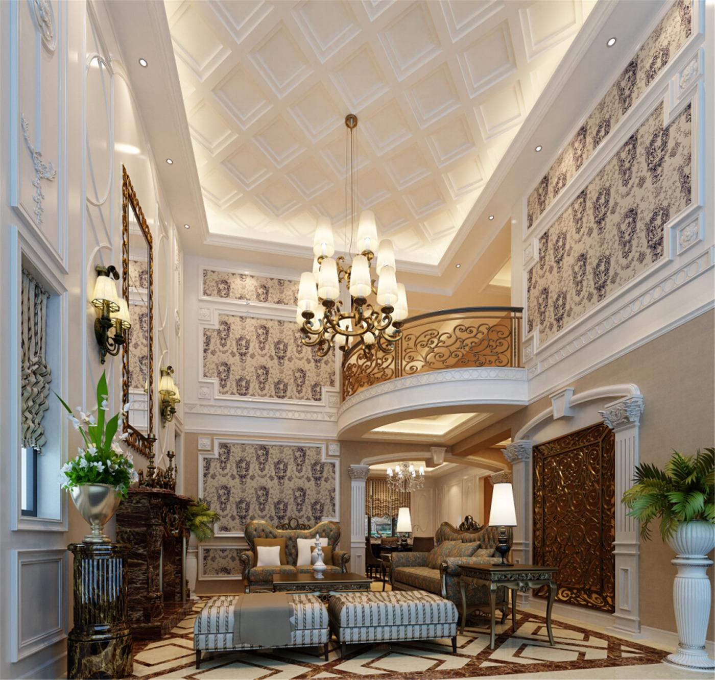 保利叶城 别墅装修 别墅设计 欧式风格 腾龙设计 客厅图片来自腾龙设计在保利叶城239号别墅装修设计案例的分享