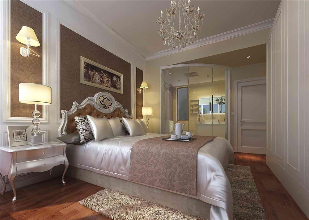 三居 白领 收纳 旧房改造 80后 小资 卧室图片来自实创装饰完美家装在红杉公馆120平简欧风格案例赏析的分享