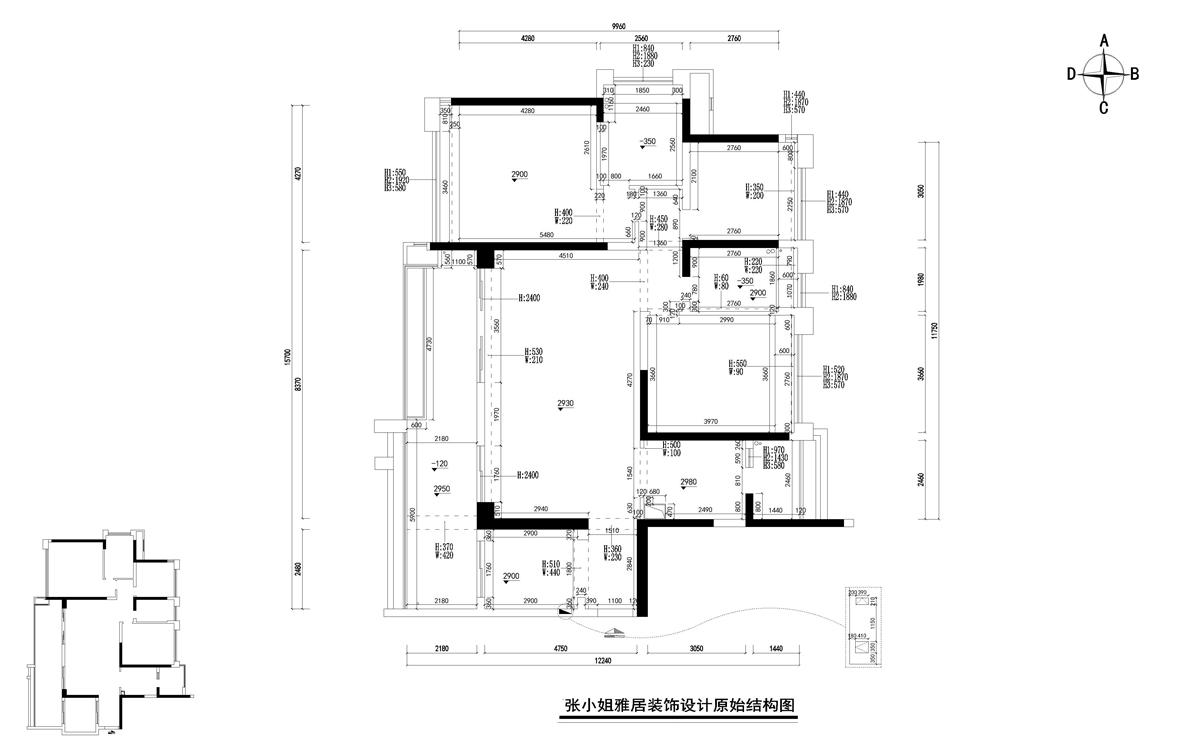 户型图图片来自广州名雕装饰在追求空间的连续性和形体的层次感的分享