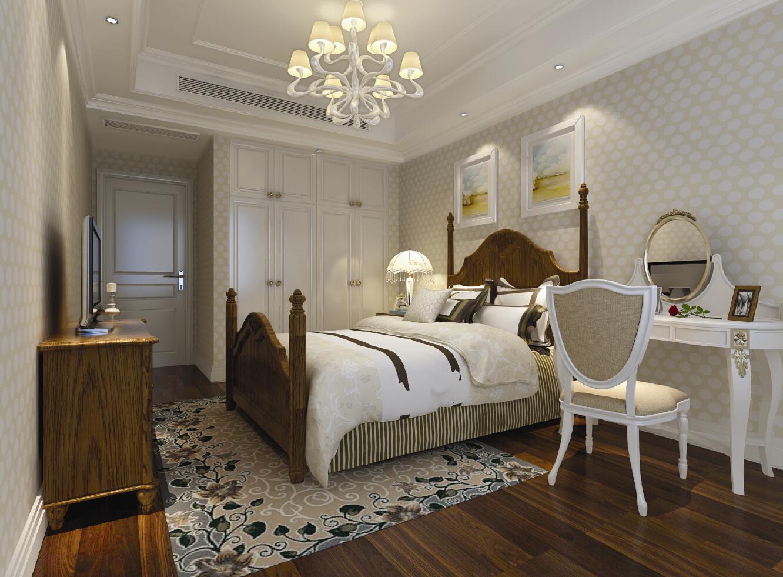 八五嘉苑 装修设计 欧式风格 腾龙装饰 张寅作品 卧室图片来自腾龙设计在八五嘉苑三房装修简欧风格设计的分享