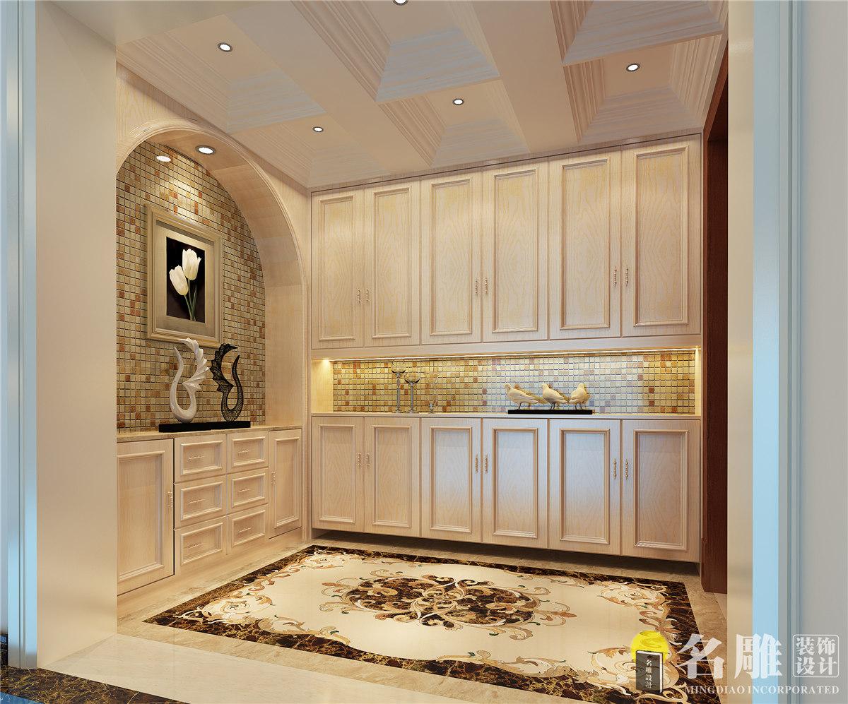 简约 欧式 四居室 珑禧 优雅 大气 玄关 玄关图片来自名雕装饰设计在珑禧简欧风格四居室的分享