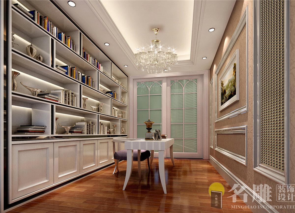 简约 欧式 四居室 珑禧 浪漫 舒适 温馨 书房 书房图片来自名雕装饰设计在珑禧简欧风格四居室的分享