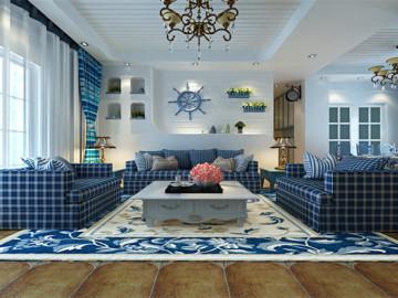 新华街二里蓝色地中海设计