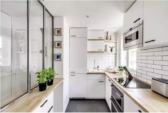 欧式 旧房改造 80后 收纳 北欧宜家 无印良品 简约 极简 单身公寓 厨房图片来自兰州实创装饰在实景图赏 灰白单身公寓 小资情调的分享