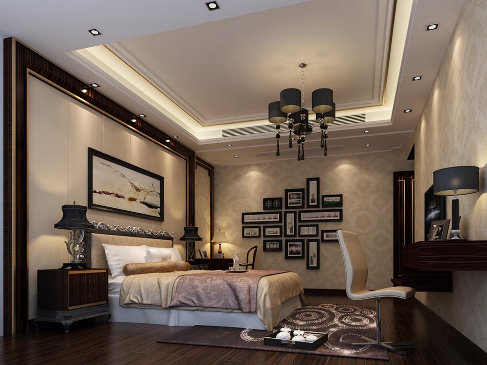 卧室图片来自广州名雕装饰在时尚沉稳,简约而不简单的分享