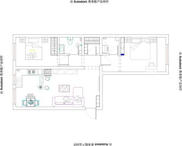 在现代化日益进步的今天,简式的家居设计越来越收到广大人群的喜爱。本案为常见的两室两厅户型,空间布局紧凑,设计大大的提高了生活舒适度。