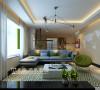 郑州维也纳森林装修3室2厅北欧风格120平样板间效果图——沙发布局效果图