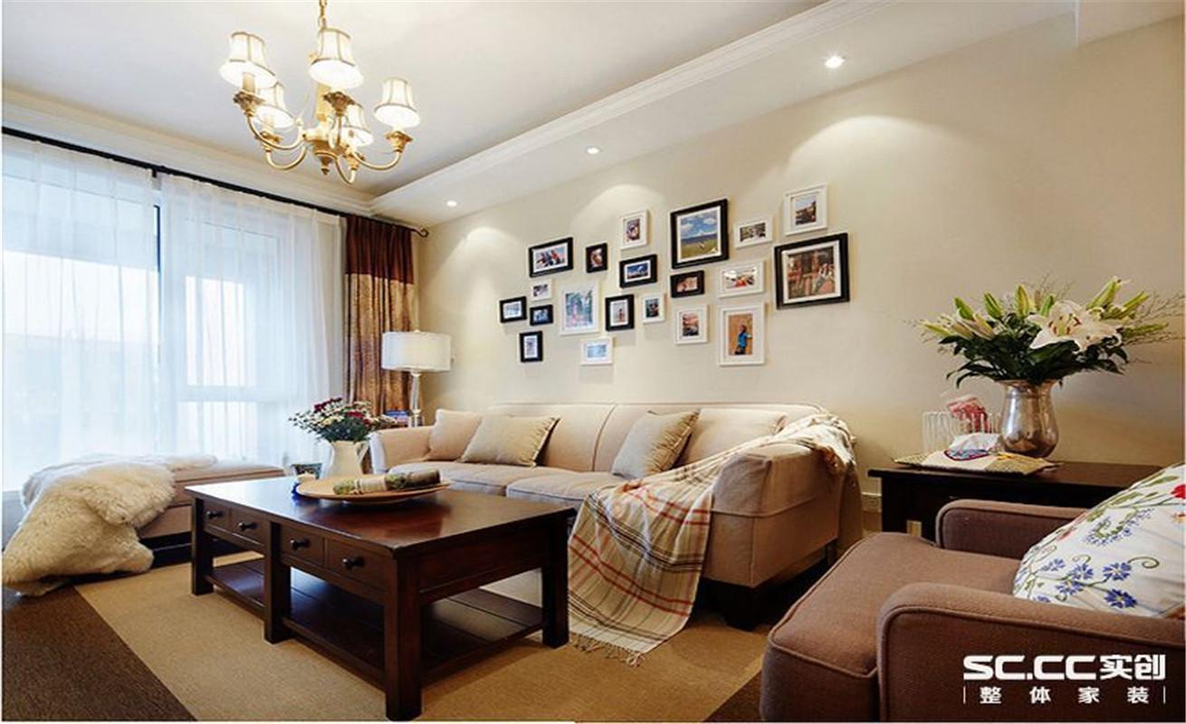 金域上郡 美式 两居 整体家装 客厅图片来自郑州实创装饰啊静在康桥金域上郡美式两居的分享
