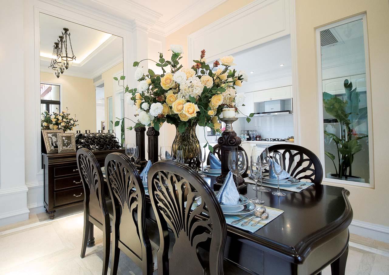 餐厅图片来自成都家和装饰在花园别墅的分享