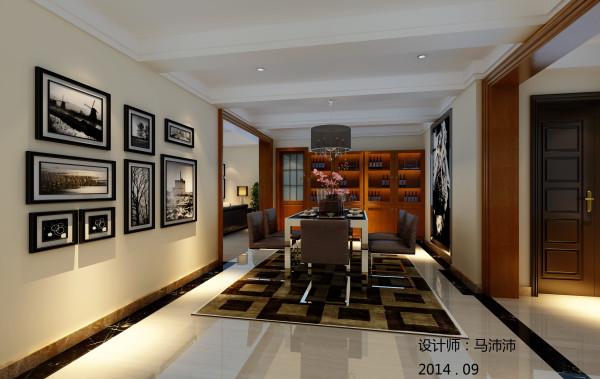 这可就考验设计师的功力。在这个180平米的居家空间中,设计师应用了 多样化的材质搭配,以简约的木作边框、墙纸、有色乳胶漆、石材等材 质,