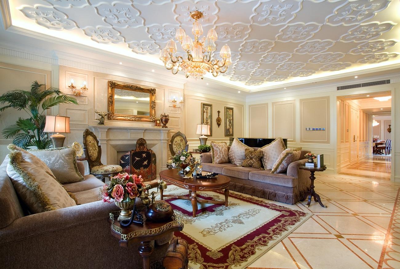 简约 欧式 城市之光 室内装修 客厅图片来自上海尚层装饰官网在中凯城市之光名邸装修案例的分享