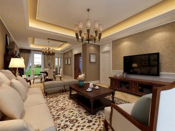 古北大成公寓装修简约欧式风格
