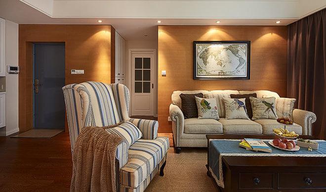 混搭 贝森公馆 装修设计 客厅图片来自成都高度国际在【高清】135平混搭风格温馨实景的分享