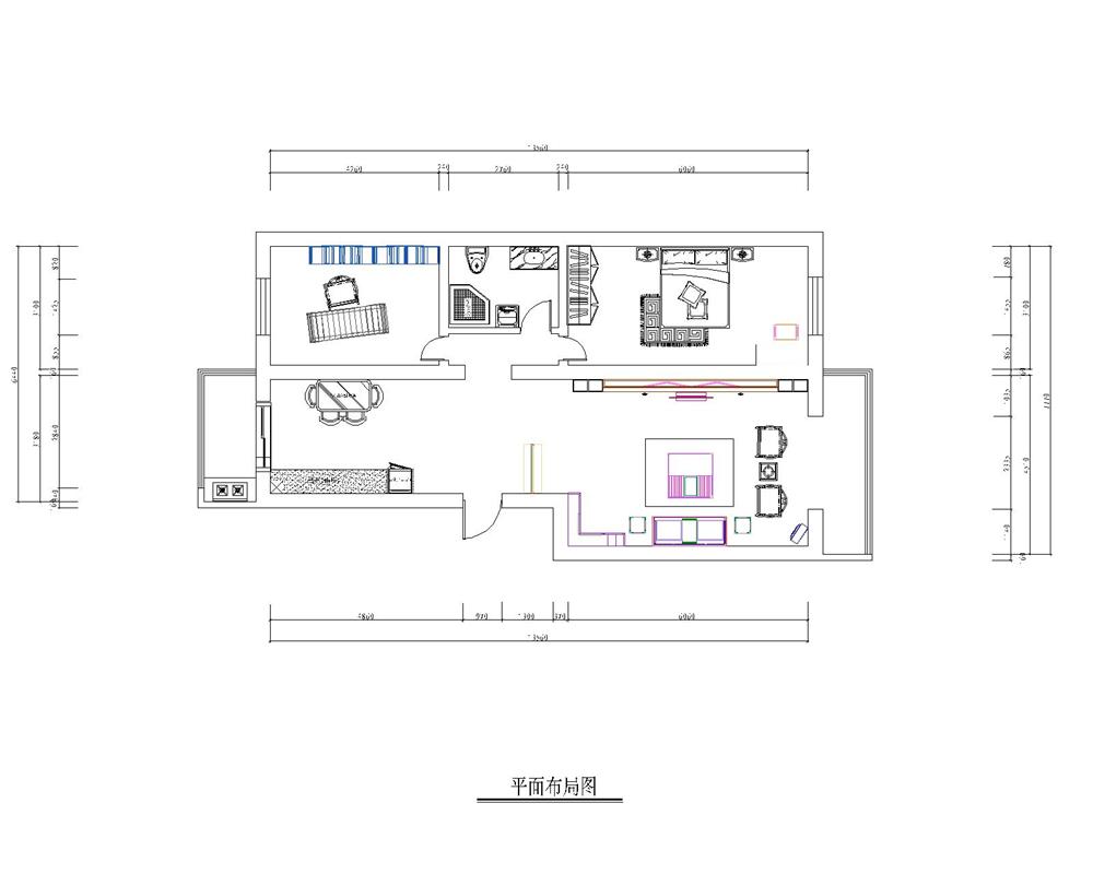 二居 白领 收纳 旧房改造 80后 小资 户型图图片来自实创装饰完美家装在孔雀城英国宫103平中式古典风格的分享