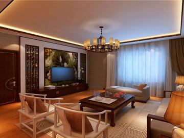 南山雨果90平新中式风格装修设计