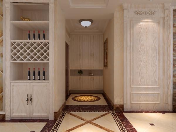 盛邦大都会218㎡四室两厅简欧装修效果图——玄关装修效果图