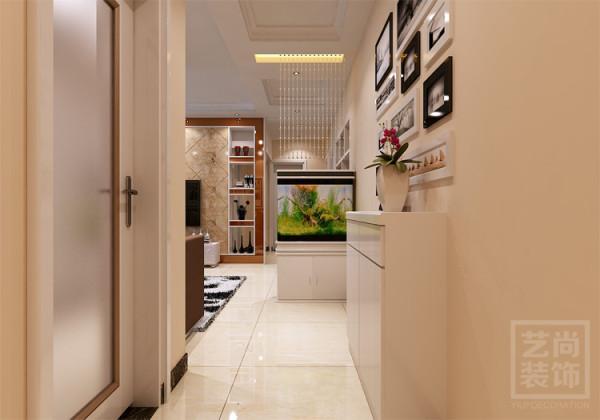 锦艺国际华都三期87平方三室两厅装修方案,入户玄关造型设计效果图