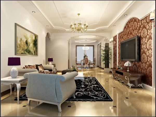 客厅大气、简约、沉稳为主基调,不要过多累赘复杂的造型,崇尚原木韵味,体现了主人对高品质生活的追求及内蕴品性。沙发造型是欧美的实木家具,稳重又不失简约。