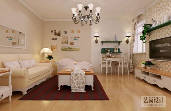 升龙城国际两室两厅田园风格装修效果图