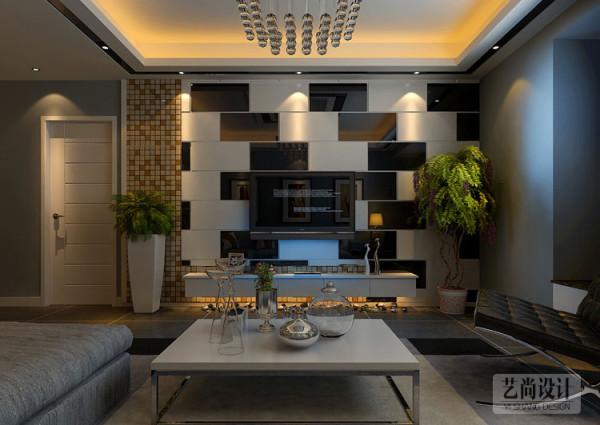 郑州财信圣地亚纳三室两厅130平方装修样板间-客厅电视背景墙