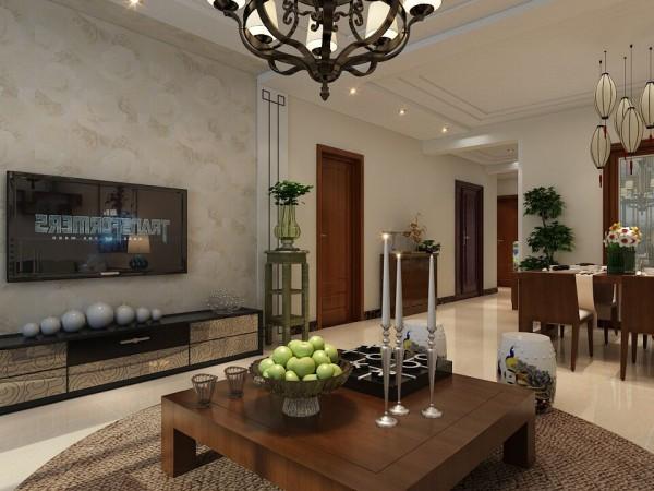 维多利亚C区138㎡简中式装修效果图——客厅装修效果图