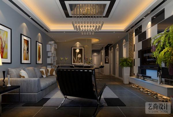 财信圣地亚纳130平方三室两厅装修方案-客厅现代简约装修效果