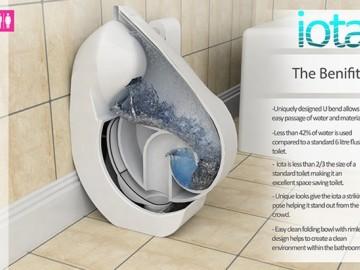 环保节水的折叠马桶
