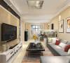 本案为荣雅园两室两厅一厨一卫73.5平米户型,经过和业主商谈后,我们把本案的风格定义为现代简约风格。整个客餐厅区域为暖色系。