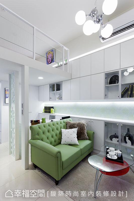 混搭 小户型 简约 收纳 小资 80后 客厅图片来自幸福空间在33平混搭风 板桥&新巨蛋的分享