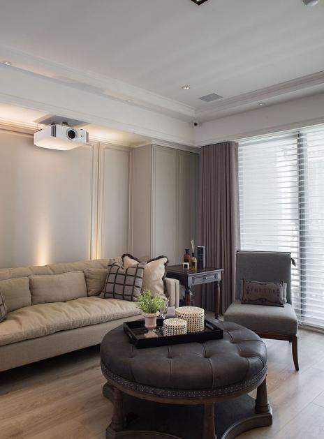 新古典风格 四居 老房翻新 客厅图片来自实创装饰上海公司在195平新古典风格老房改造的分享