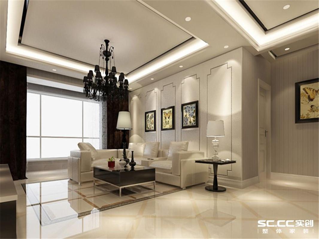 现代简约 三居 整体家装 客厅图片来自郑州实创装饰啊静在雅致现代简约三居的分享