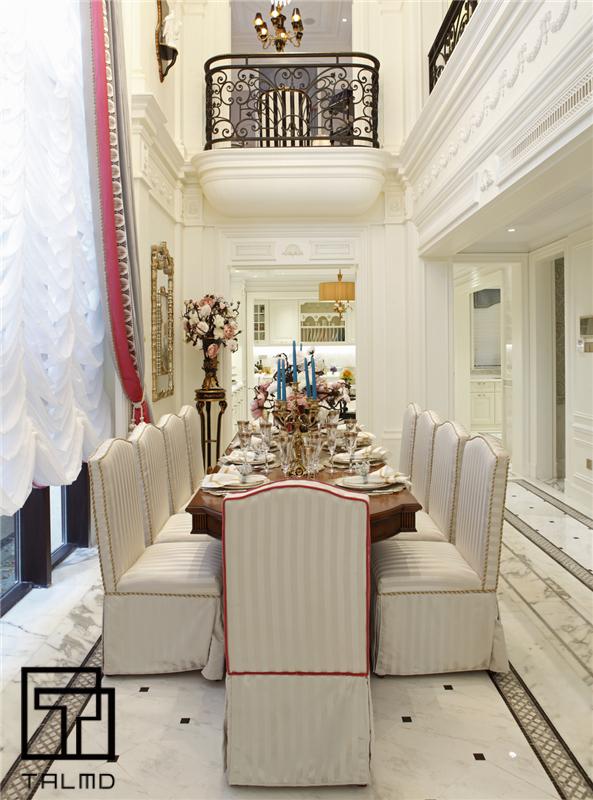 英伦 别墅 家具定制 高端家具 餐厅图片来自TALMD图迈家居在【TALMD案例】英伦·深圳九号公馆的分享
